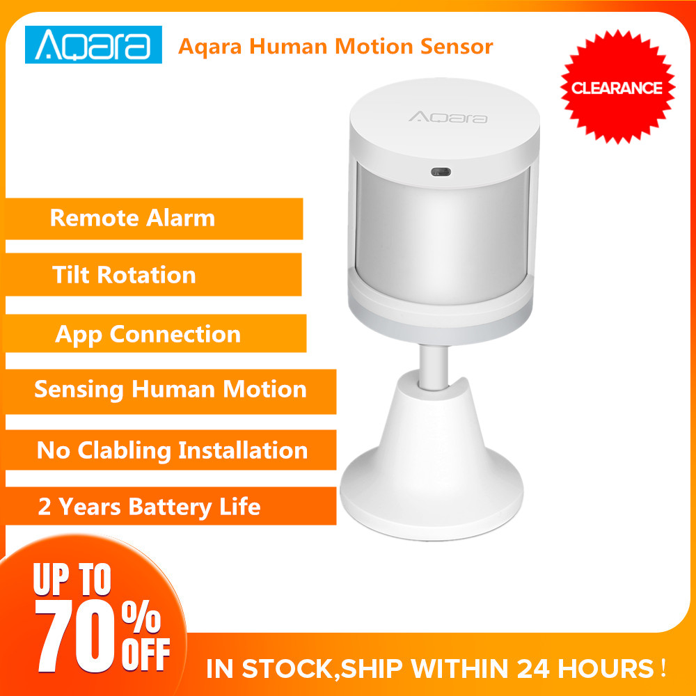 Aqara Human Body Sensor Smart Body Movement PIR Motion Sensor Zigbee Use With Gateway Mi Home App IN STOCK