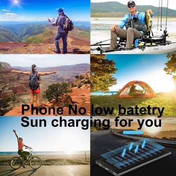 30000mAh Solar Power Bank Large Capacity Ultra Thin 9mm with LED Light External Solar Charger travel Powerbank for All Phone 3