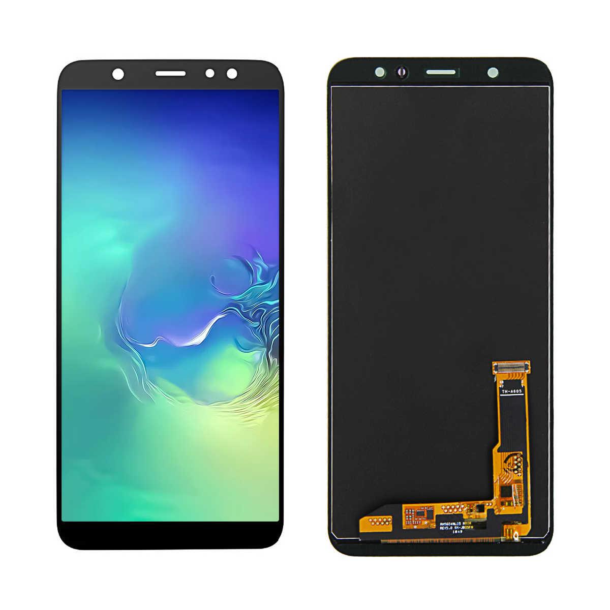 INCELL LCD A6 plus J8 PLUS J805 do Samsung Galaxy A6Plus A6 + 2018 A605F wyświetlacz zespół ekranu dotykowego + regulacja jasności
