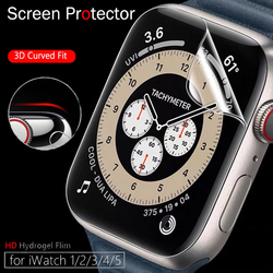 Screen Protector Clear Full Protective Film for IWatch Series 4 5 6 40MM 44MM for Apple Watch 6 SE 5 3 2 1 38MM 42MM Case Cover