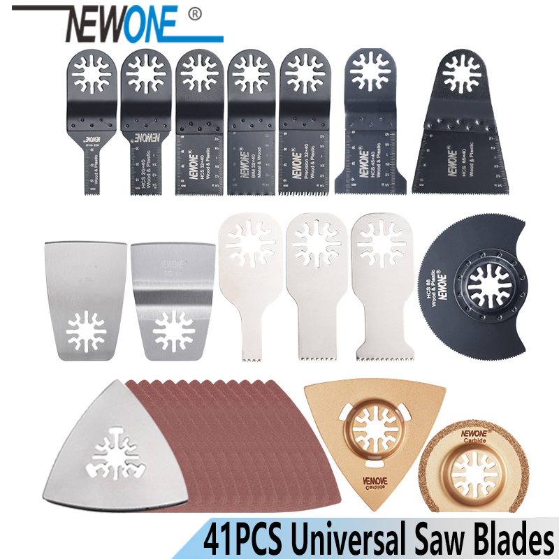 NEWONE 41 Pcs/set Oscillating Tool Saw Blades Kit Multi Tool Saw Blade Accessories For Multimaster Power Tools As Fein, Dremel