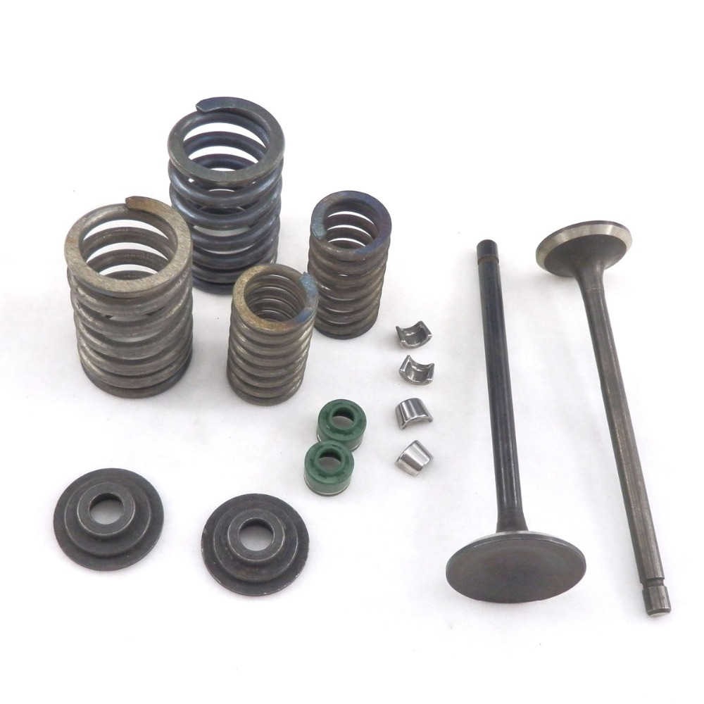 Motorcycle Valve Set With Springs Seal for Chinese Scooter <font><b>125cc</b></font> <font><b>engines</b></font> CG125 copy 156FM1 Moped ATV Part image