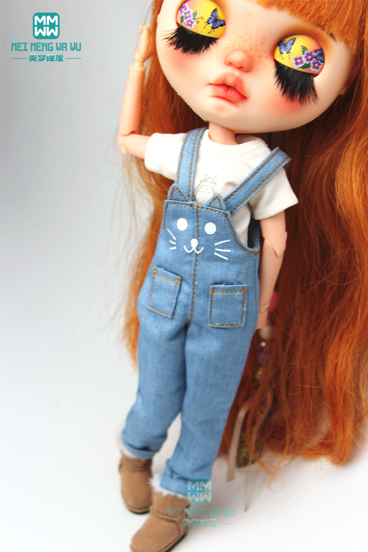 Одежда Blyth, 1 шт., модная мультяшная футболка, женская одежда для Blyth Azone 1/6, аксессуары для кукол