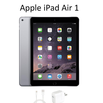 """Apple iPad Air 1 MD785LL/B 90% New Apple A7 16 /32GB Flash Storage 9.7"""" 2048 x 1536 No Touch ID Tablet PC Space Gray/Sliver 1"""