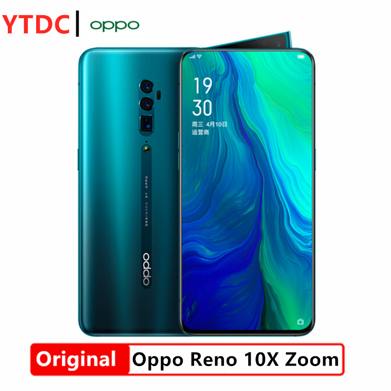 "New Original OPPO Reno 10x zoom Smart phone Android 9 6.6"" Full Screen NFC Snapdragon 855 Octa Core 48MP+13MP+8MP Fingerprint ID