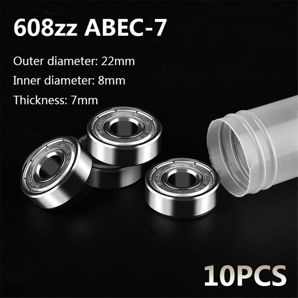 10pcs Scooter Ball Roller Double Shielded Deep Groove Ball Bearings Skate Bearings Wheels Scooter Parts Accessories Skateboard