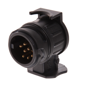 Image 3 - 13 Pin zu 7 Pin Stecker Stecker Adapter 12V Auto Anhänger Lkw Caravan Anhängerkupplung Sockel Converter Europäischen Standard Wasserdicht