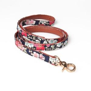 Image 4 - Benesaw PU leather Floral Bowtie smycz dla psa zestaw wygodny regulowany wyściełany szczeniak dla małych średnich psów