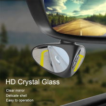 2in1 Car Blind Spot Mirror  Double sided 360 degrees can be rotated zone assist mirror car Road safety Auxiliary