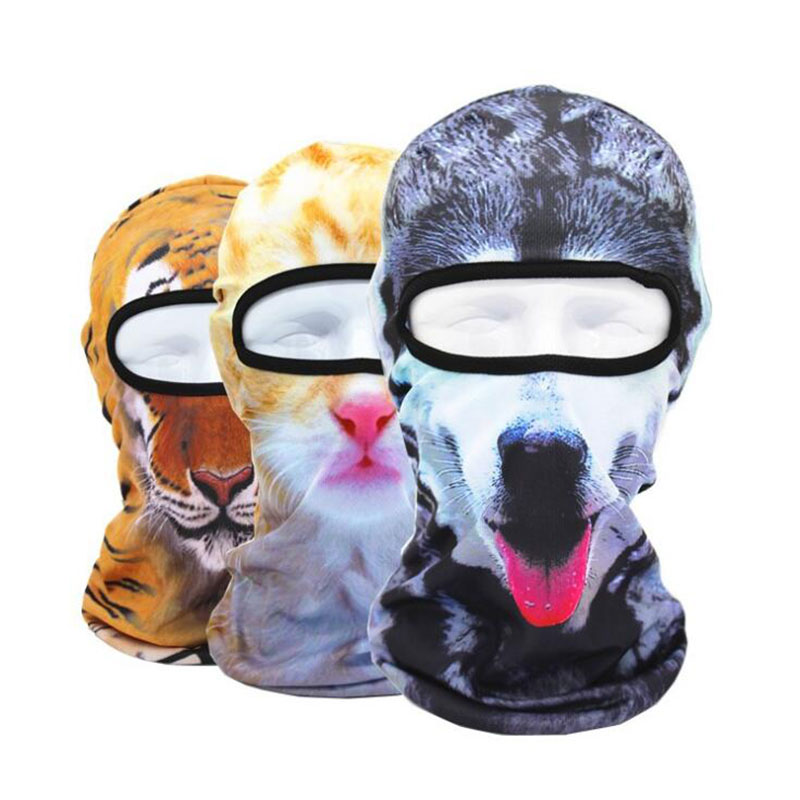 3d Facekini Sunscreen Head Cover, Sand-proof, Dust-proof And Cold-proof Mask, CS Anti-terrorism Hat Men Muffle Face Mouth Masks.
