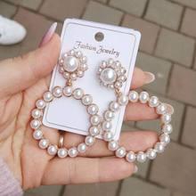 EN – boucles d'oreilles rondes EN cristal pour femmes, pendentif, goutte d'eau, perle, breloque, bijoux de mariage, à la mode, 2021