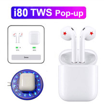 i80 TWS Original Wireless Bluetooth Headsets  for iPhone PK W1 chip i20 i30 i60 i100Hifi Earbuds Box Sports