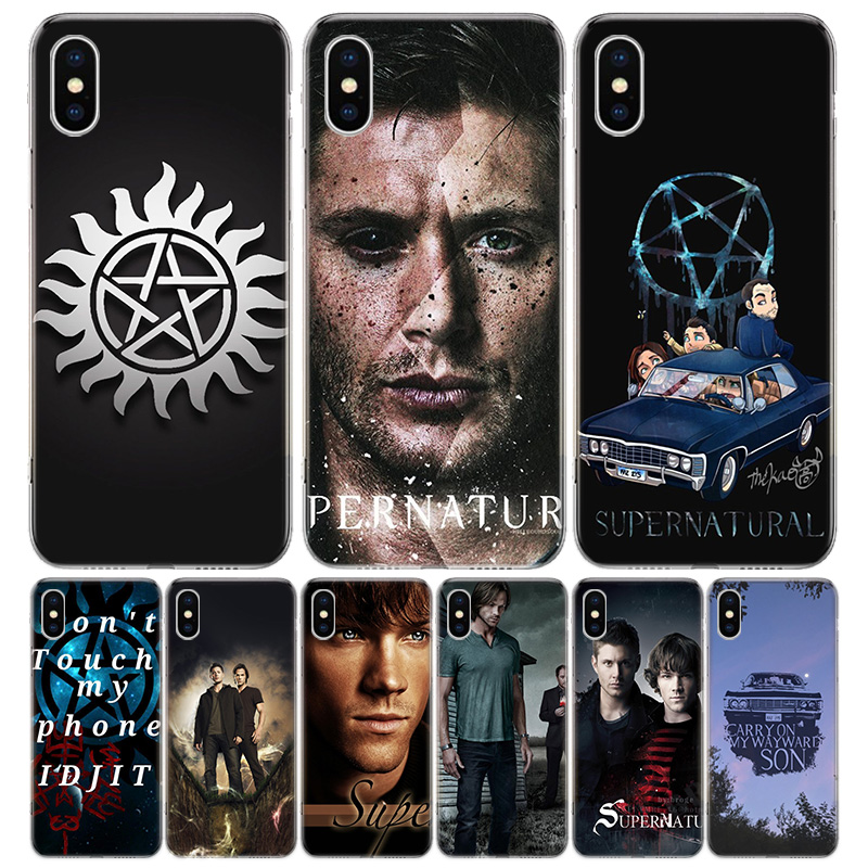 Supernatural Cover Phone Case For iPhone 11 Pro 7 6 X 8 6S Plus XS MAX + XR 5S SE 10 Ten Art TPU Coque Capa Shell image
