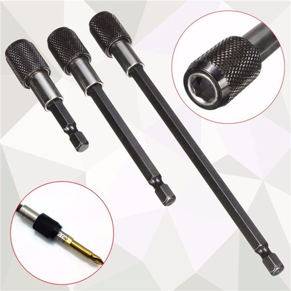 1/4 Hex Shank Bit Holder Extension Screwdriver Connection Rod Magnetic Adapter Strong Toughness Metal Portable Supply
