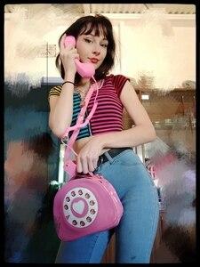 Image 3 - חדש עיצוב כיף בציר מתוקה טלפון סגנון נשים ארנקי תיקי כתף תיק 2020 אופנה Crosbody תיק לילדה