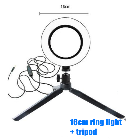 Photography LED Selfie Ring Light 26CM Dimmable Camera Phone Ring Lamp 10inch With Table Tripods For Makeup Video Live Studio 4