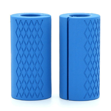 Barbell Dumbbell Grips Silicone Anti-Slip Protect Pad Intensify Forearm Weightlifting Fat Grip 1 Pair