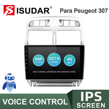 ISUDAR V57S Android Autoradio For Peugeot 307 2002-2013 Car Multimedia Player GPS Auto Stereo System CANBUS IPS Camera No 2 Din image