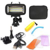Orsda akcesoria gopro LED 40m podwodna wodoodporna lampa gopro światła led wideo przenośne światło wypełniające dla SJCAM Xiaomi 700 lm SL 100 w Etui na kamery sportowe od Elektronika użytkowa na