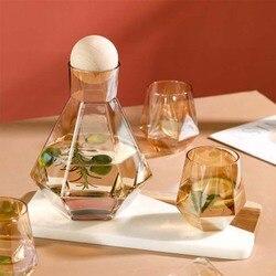 Jarro de vidro ruida conjunto chaleira de água fria bule jarro garrafa de água suco chá carafe grande capacidade garrafa conjuntos