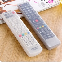 1 Clear Silicone Remote Control Covers Air Condition Control Case Waterproof Dust proof Storage Bag Organizer