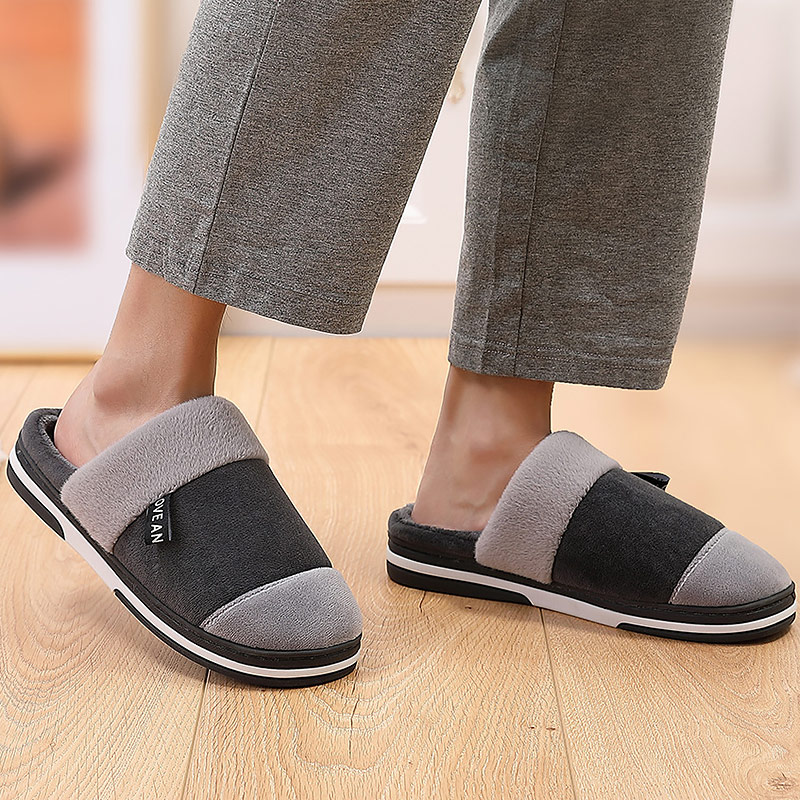 Massage Slipper Men Winter Indoor Shoes Soft High Quality Rubber Slippers Male Home Shoes 2019 Fashion Home Slippers Men