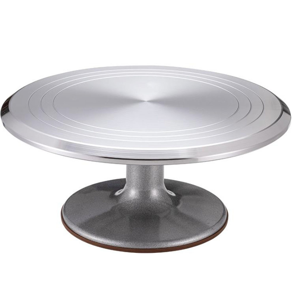 12 Inch Rotating Cake Decorating Stand Cake Stand Aluminium Alloy Revolving Cake Turntable Cake Decorating Table