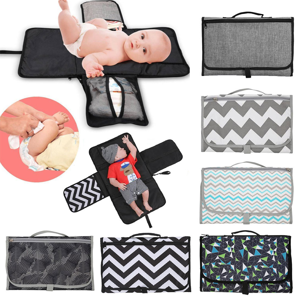 Waterproof 3-in-1 Multifunctional Portable Infant Baby Changing Mat Baby Diaper Cover Mat Clean Hand Folding Diaper Bag