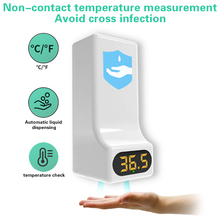 H9 Wall Mounted Hand Sanitizer Digital Infrared Thermometer Automatic Automatic Wall Mounting ABS Hand Cleaning Dispenser