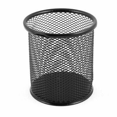 Металлическая сетка цилиндрической формы канцелярские ручки держатель коробка контейнер черный