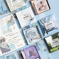 JIANWU 80 blätter Farbe welt washi aufkleber Nette Große kapazität aufkleber tasche DIY journal Dekorative aufkleber scrapbooking