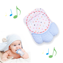 Baby Silicone Teething Glove Sound Anti-bite Teether Toy Candy Wrapper Newborn Nursing Teether
