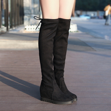 Sexy Thigh High Boots Platform Winter Boots Women Over the Knee Boots Fashion Suede Boots High Heels Fur Plush Wedge Shoes Woman new fashion half knee high boots sexy high heels boots shoes winter autumn platform motorcycle snow style boots for women
