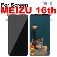 For Meizu 16 16th Display Touch Screen Digitizer LCD Assembly for Meizu 16th M882Q/M882H Screen with Frame Repair Replacement for meizu mx4 lcd screen display with touch digitizer frame assembly free shipping black 100