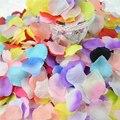 100 шт. шелковые романтические искусственные розы, лепестки Листья цветка для свадьбы, вечеринки, украшения дома, роза, Декоративные DIY венки, ...