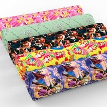 Новинка, 50*140 см, животный принт, пэчворк, хлопок, ткань для детской ткани, домашний текстиль для шитья, тильда, куклы, c4226