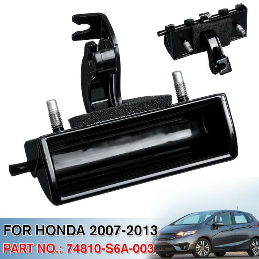 Black Rear Door Handle Accessories Parts For Honda Fit 2007-2013 Trunk