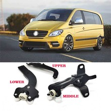 For MERCEDES VITO 639 VIANO ROLLER GUIDE SLIDING DOOR UPPER MIDDLE LOWER RIGHT SET  6397601747 6397601547 6397601347