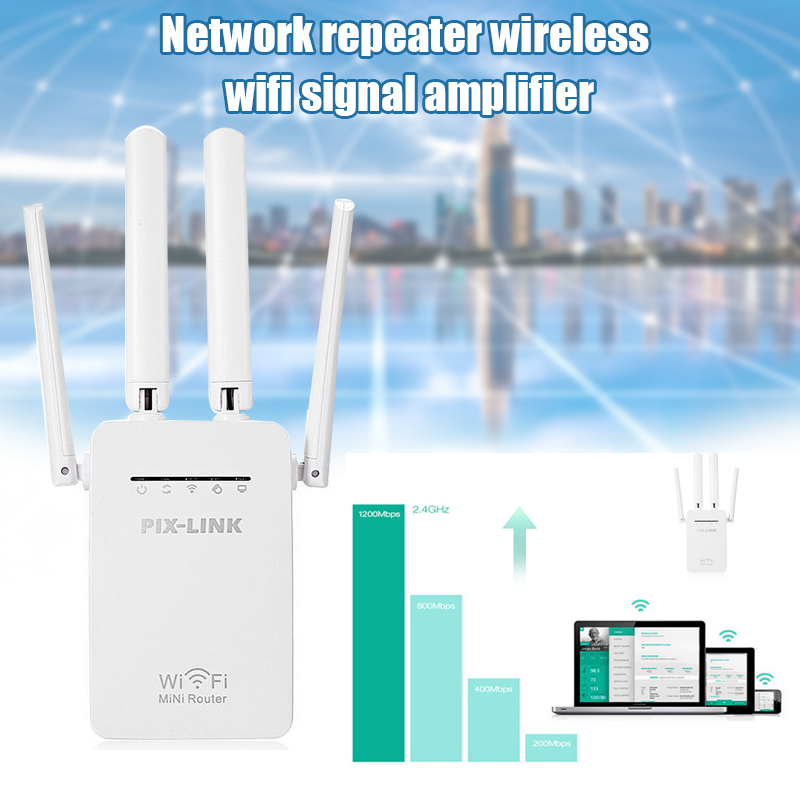 WiFi Extender Range Signal Booster Wireless Networks Web Repeater Dual-Band KQS8