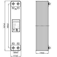 316 нержавеющая сталь 44 пластины охладитель молока, 2.18m2 Паяные пластинчатый теплообменник