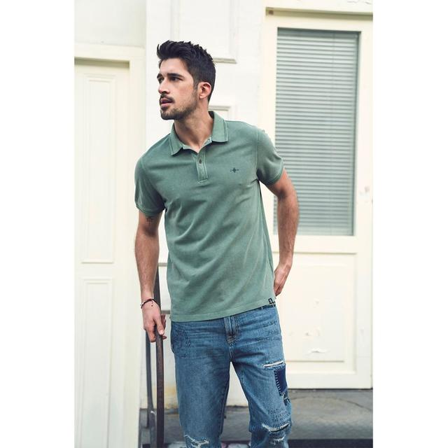 Vintage aesthetic polo shirt for summer