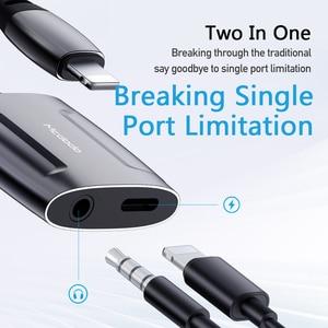 Image 2 - Mcdodo Aux אודיו כבל שיחת מתאם כדי 3.5mm שקע אודיו אוזניות אוזניות ממיר ספליטר עבור IPhone מטען מתאם OTG