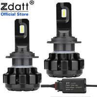 Zdatt H7 Fari Dell'automobile LED H4 di Ghiaccio a Led Lampade per Auto 6000K H1 Led lampadas H11 LED Canbus 100W 12000LM 12V Automobili