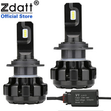 Zdatt H7 LED Canbus Lampadas H1 H4 H8 H9 H11 자동차 헤드 라이트 전구 얼음 램프 6000K 100W 12000LM 12V 자동차 Foglights