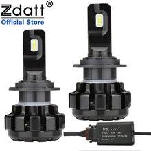 Zdatt H7 LED Canbus Lampadas H1 H4 H8 H9 H11 רכב פנס נורות קרח מנורות 6000K 100W 12000LM 12V מכוניות פנסי ערפל