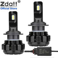 Zdatt H7 LED Voiture Phares H4 LED Glace Lampes pour Voitures 6000K H1 LED lampadas a H11 9005 HB3 LED Canbus 100W 12000LM 12V Automobiles