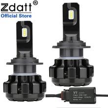 Zdatt H7 led canbus lampadas H1 H4 H8 H9 H11車ヘッドライト電球アイスランプ6000 18k 100ワット12000LM 12v自動車フォグライト