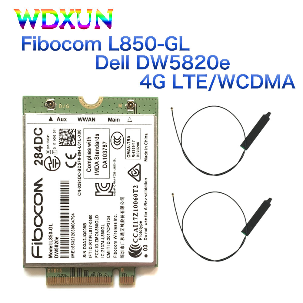 Módulo de Cartão 284dc para Dell Fibocom Wcdma 4g Wwan 0284dc Portátil 3500 5400 Dw5820e L850-gl Lte –