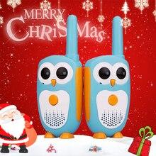 2 pièces chape RT30 talkie walkie enfants 2 pièces dessin animé hibou Design Childre Radio 0.5W 1 canal talkie walkie anniversaire cadeau de noël