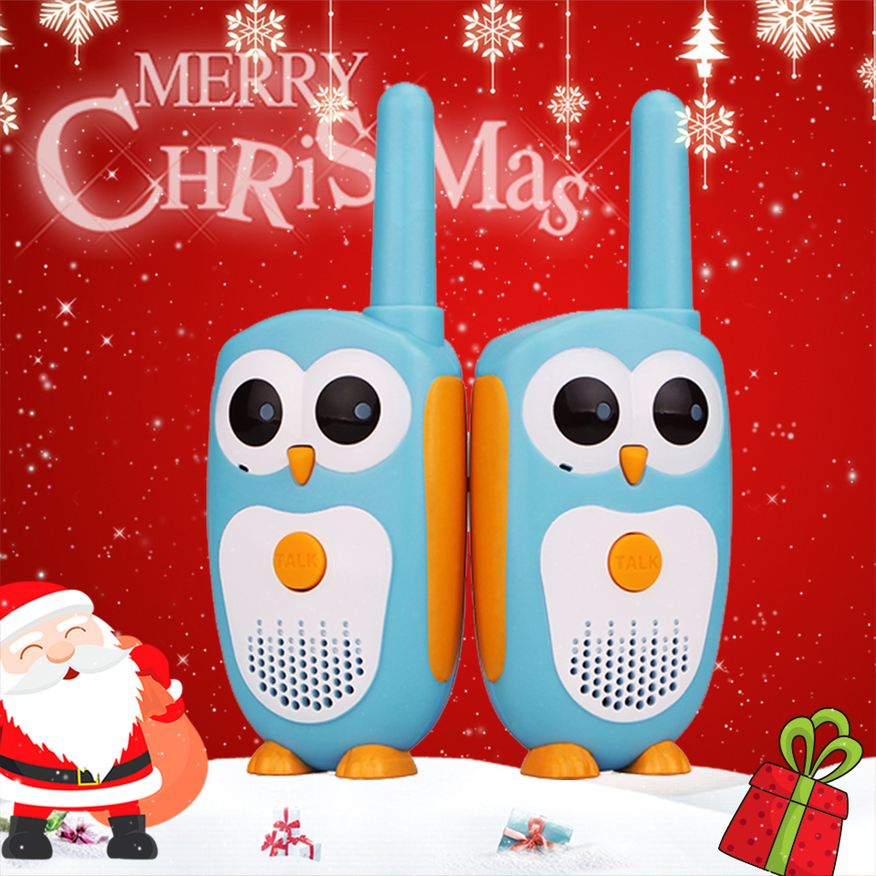 2pcs Retevis RT30 Walkie Talkie Kids 2pcs Cartoon Owl Design Childrens Radio 0.5W 1Channel  Walkie-talkies Birthday Christmas Gift